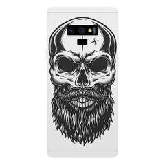 Skull with the beard  design,  Samsung Galaxy Note 9 hard plastic printed back cover