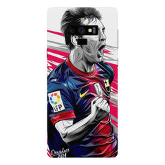 Messi illustration design,  Samsung Galaxy Note 9 hard plastic printed back cover