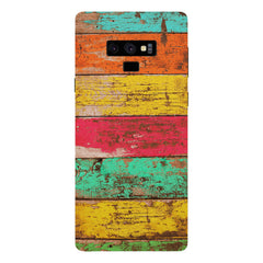 Strips of old painted woods  Samsung Galaxy Note 9 hard plastic printed back cover