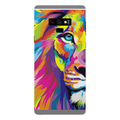 Colourfully Painted Lion design,  Samsung Galaxy Note 9 hard plastic printed back cover