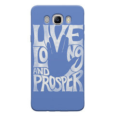 Live long and Prosper- Star trek  design,   Samsung Galaxy On8 hard plastic printed back cover.
