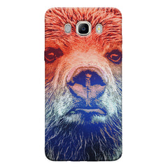 Zoomed Bear Design  Samsung Galaxy On8 hard plastic printed back cover.