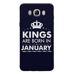 Kings are born in January design Samsung Galaxy On8 all side printed hard back cover by Motivate box Samsung Galaxy On8 hard plastic printed back cover.