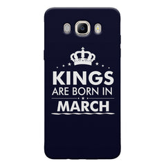 Kings are born in March design Samsung Galaxy On8 all side printed hard back cover by Motivate box Samsung Galaxy On8 hard plastic printed back cover.