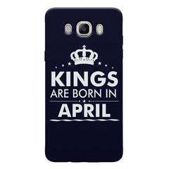 Kings are born in April design Samsung Galaxy On8 all side printed hard back cover by Motivate box Samsung Galaxy On8 hard plastic printed back cover.