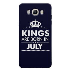Kings are born in July design Samsung Galaxy On8 all side printed hard back cover by Motivate box Samsung Galaxy On8 hard plastic printed back cover.