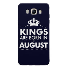 Kings are born in August design Samsung Galaxy On8 all side printed hard back cover by Motivate box Samsung Galaxy On8 hard plastic printed back cover.