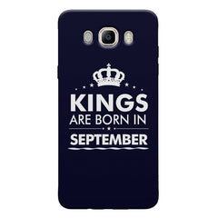 Kings are born in September design Samsung Galaxy On8 all side printed hard back cover by Motivate box Samsung Galaxy On8 hard plastic printed back cover.