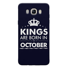 Kings are born in October design Samsung Galaxy On8 all side printed hard back cover by Motivate box Samsung Galaxy On8 hard plastic printed back cover.