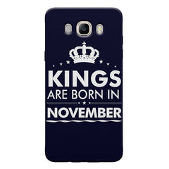Kings are born in November design Samsung Galaxy On8 all side printed hard back cover by Motivate box Samsung Galaxy On8 hard plastic printed back cover.