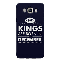Kings are born in December design Samsung Galaxy On8 all side printed hard back cover by Motivate box Samsung Galaxy On8 hard plastic printed back cover.