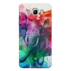 colourful portrait of Elephant Samsung Galaxy On8 hard plastic printed back cover.