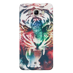Tiger with a ferocious look Samsung Galaxy On8 hard plastic printed back cover.