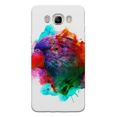 Colourful parrot design Samsung Galaxy On8 hard plastic printed back cover.