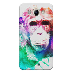 Colourful Monkey portrait Samsung Galaxy On8 hard plastic printed back cover.