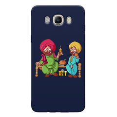 Punjabi sardars with chicken and beer avatar Samsung Galaxy On8 hard plastic printed back cover.
