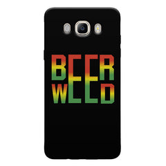 Beer Weed Samsung Galaxy On8 hard plastic printed back cover.