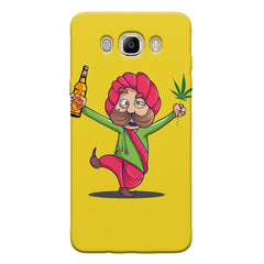 Sardar dancing with Beer and Marijuana  Samsung Galaxy On8 hard plastic printed back cover.