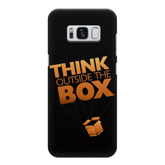 Think Outside The Box- Entrepreneur Lines design,  Samsung S8  printed back cover