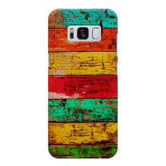 Strips of old painted woods  Samsung S8 Plus  printed back cover