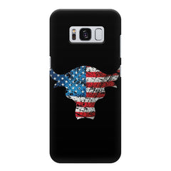 The Rock with flag colors Samsung S8  printed back cover