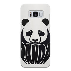 White Panda  design,  Samsung S8  printed back cover