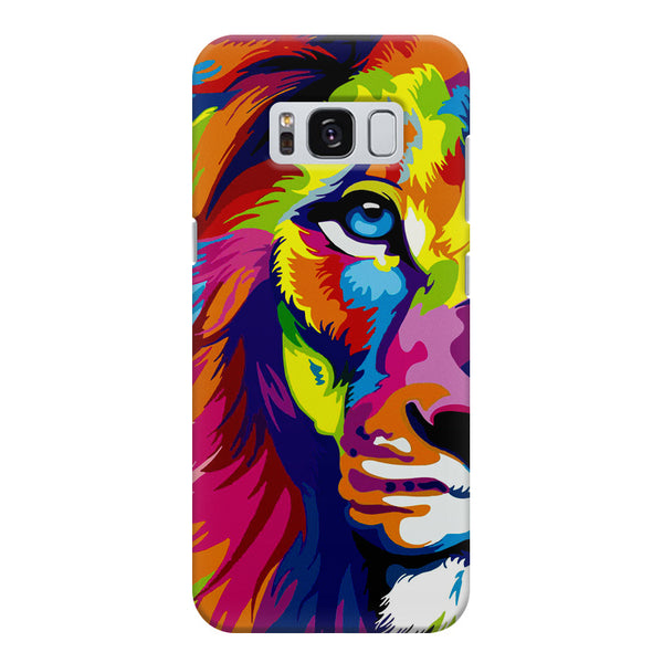 Colourfully Painted Lion design,  Samsung S8  printed back cover