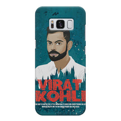 Virat Kohli Indian Cricket Team Captain Quote design,  Samsung S8  printed back cover