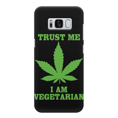 Vegan weeed design Samsung S8  printed back cover