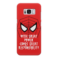 Spider man design Samsung S8  printed back cover