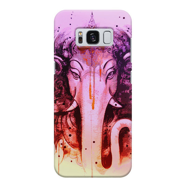 Lord Ganesha design Samsung S8  printed back cover