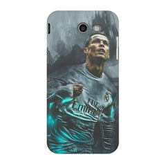 Oil painted ronaldo  design,  Samsung Galaxy J3 2017  printed back cover