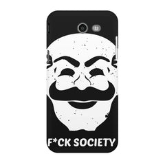 Fuck society design Samsung Galaxy J3 2017  printed back cover