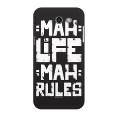 Mah Life Mah Rules Quirky design,  Samsung Galaxy J3 2017  printed back cover