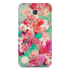 Floral  design,  Samsung Galaxy J1  printed back cover