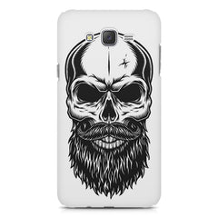 Skull with the beard  design,  Samsung J7 2016 version  printed back cover
