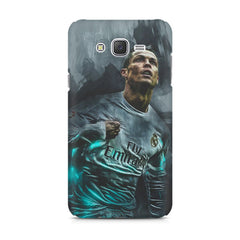 Oil painted ronaldo  design,  Samsung J7 2016 version  printed back cover