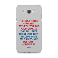 Motivational Quote For Success - Only Thing Between You And Your Goal design,  Samsung Galaxy J5 ( 2015 )  printed back cover