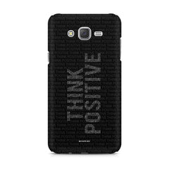 Think Positive - Motivational Start-Up Quotes design,  Samsung Galaxy J1 Ace  printed back cover
