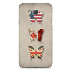 Butterfly in country flag colors Samsung Galaxy J1 Ace  printed back cover