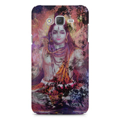 Shiva painted design Samsung J7 2016 version  printed back cover
