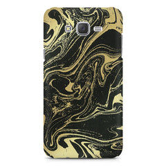 Golden black marble design Samsung Galaxy J1 Ace  printed back cover