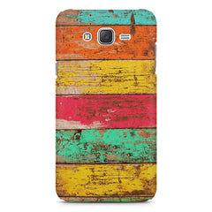 Strips of old painted woods  Samsung Galaxy J5 ( 2015 )  printed back cover