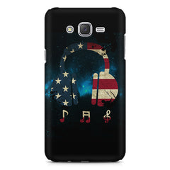 America tunes Blue sprayed  Samsung Galaxy J1 Ace  printed back cover
