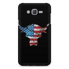 The Rock with flag colors Samsung Galaxy J1 Ace  printed back cover