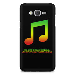 Music quotes  Samsung J7 2016 version  printed back cover
