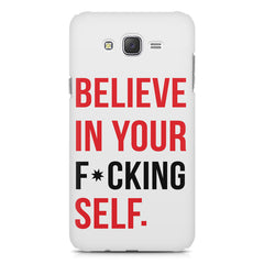 Believe in your Self Galaxy A8  printed back cover