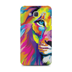 Colourfully Painted Lion design,  Samsung J7 2016 version  printed back cover