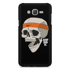 Skull Funny Just Did It !  design,  Samsung J7 2016 version  printed back cover