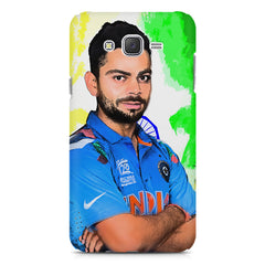 Virat Kohli Oil Painting India design,  Samsung Galaxy J1 (2016)  printed back cover